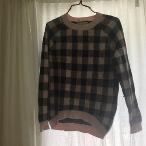 For love and lemons plaid sweater